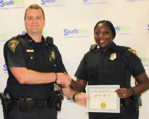 Eveyln Gaines Officer of the Month